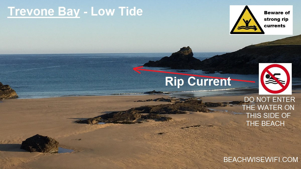 Trevone-bay-low-tide-do-not-enter-on-this-side-rip-current